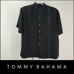 Tommy Bahama Men Short Sleeve Silk Dress Size XL